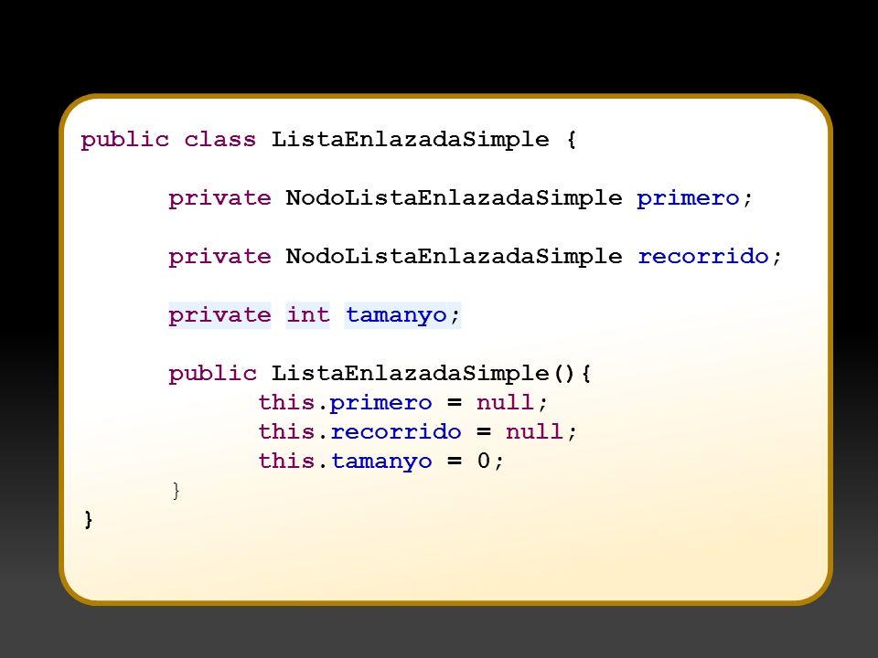 public class ListaEnlazadaSimple {
