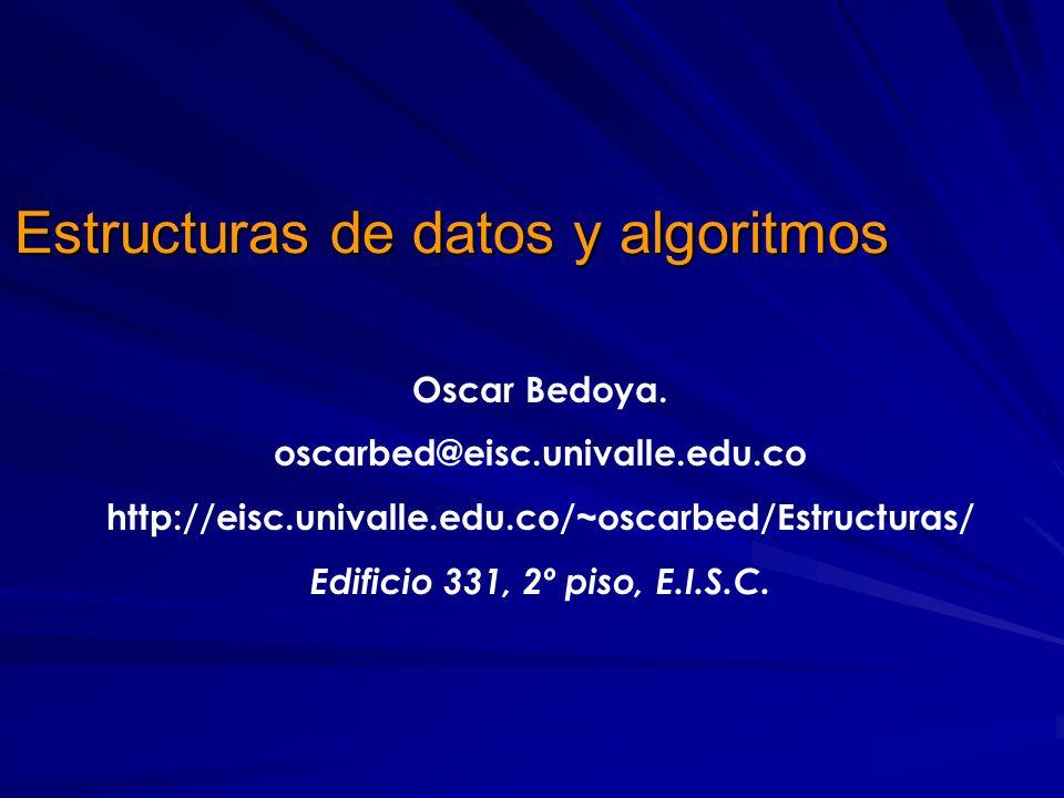 Estructuras de datos y algoritmos