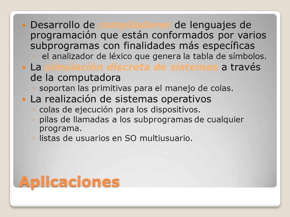 Desarrollo de compiladores de lenguajes de programación que están conformados por varios subprogramas con finalidades más específicas