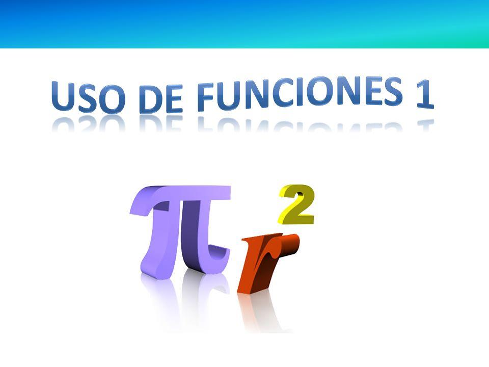USO DE FUNCIONES 1