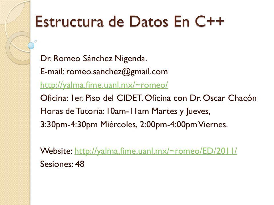 Estructura de Datos En C++