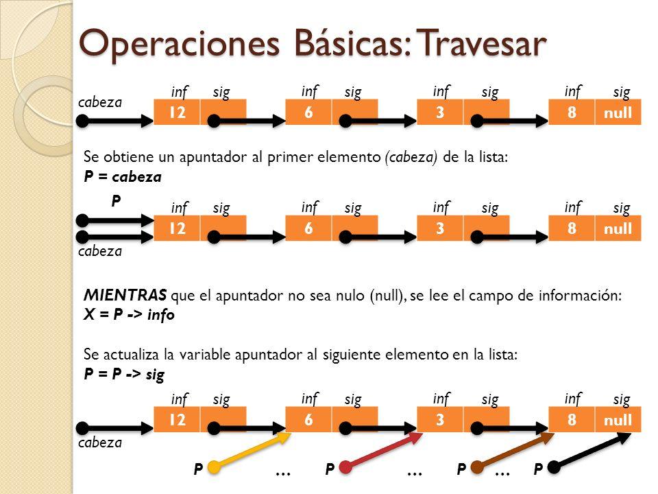 Operaciones Básicas: Travesar