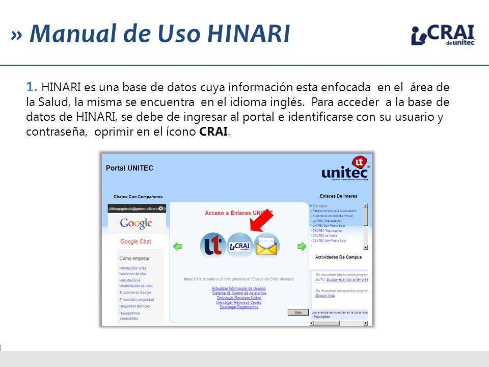 » Manual de Uso HINARI