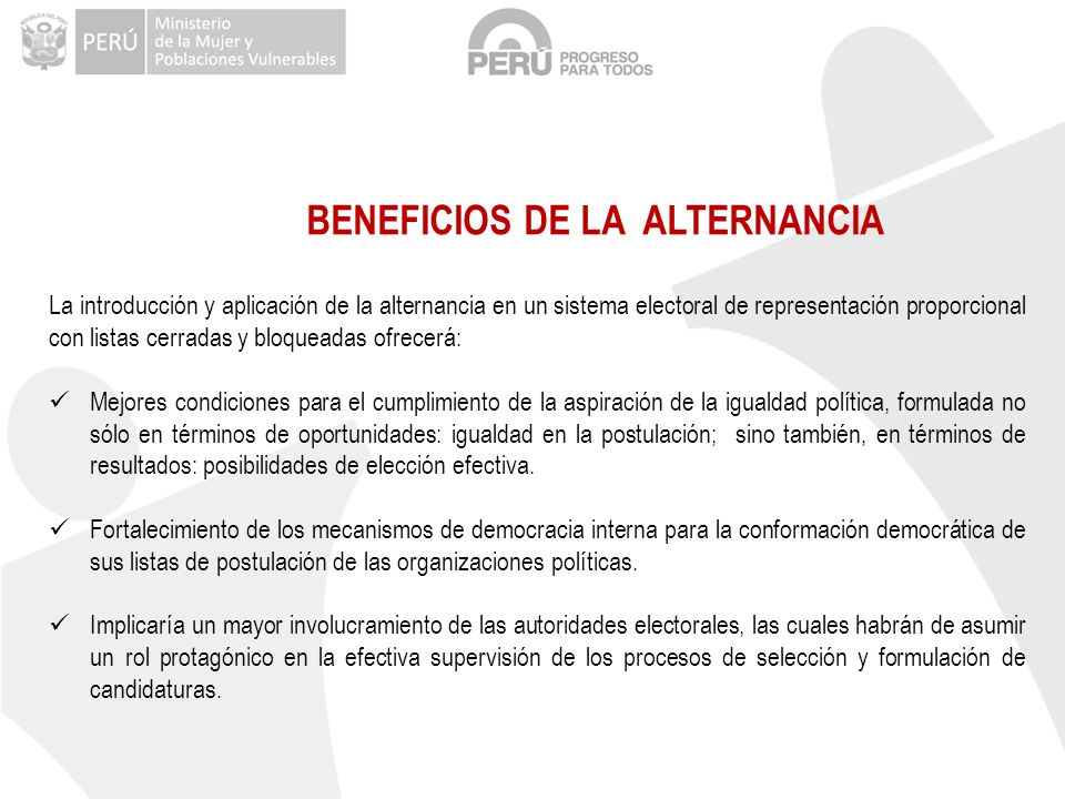 BENEFICIOS DE LA ALTERNANCIA