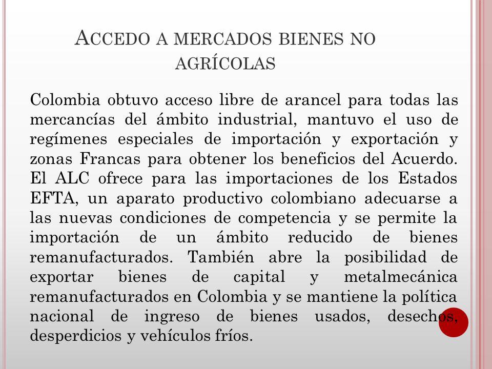 Accedo a mercados bienes no agrícolas
