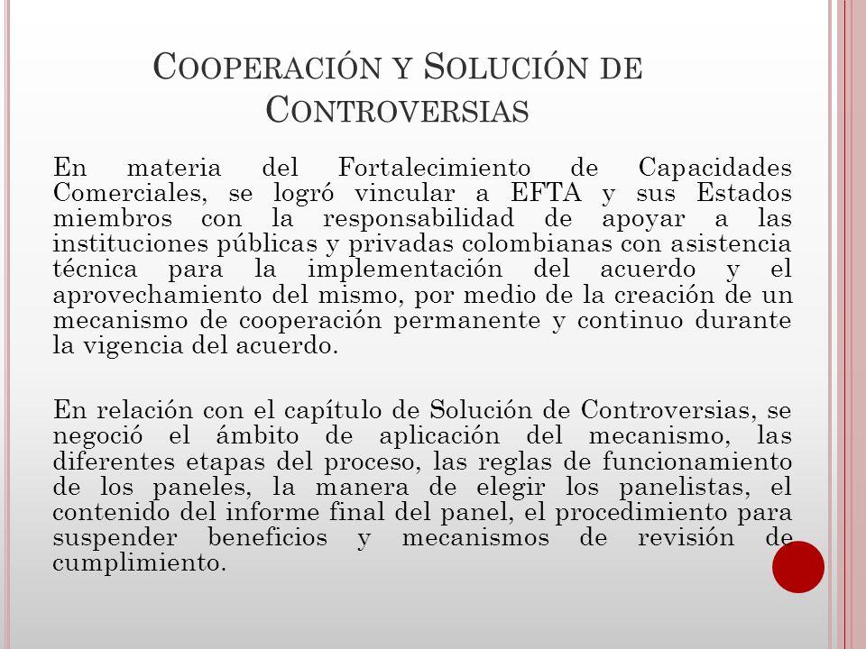 Cooperación y Solución de Controversias