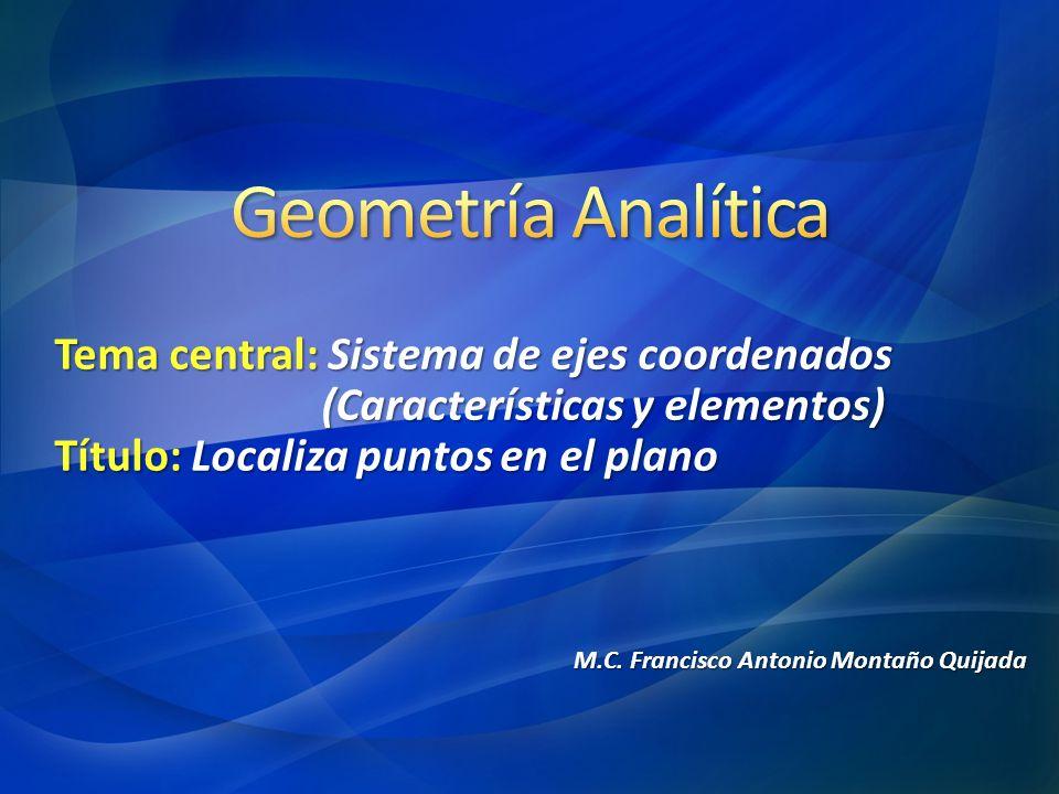 Geometría Analítica Tema central: Sistema de ejes coordenados