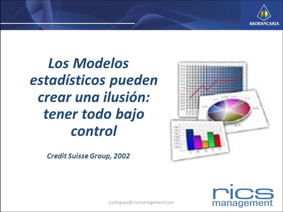 Los Modelos estadísticos pueden crear una ilusión: tener todo bajo control