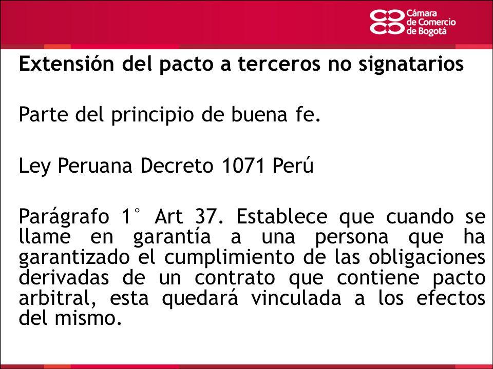 Extensión del pacto a terceros no signatarios