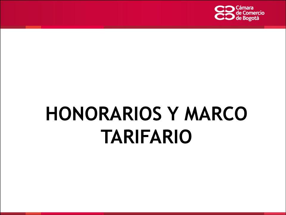 HONORARIOS Y MARCO TARIFARIO
