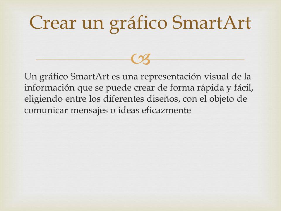 Crear un gráfico SmartArt