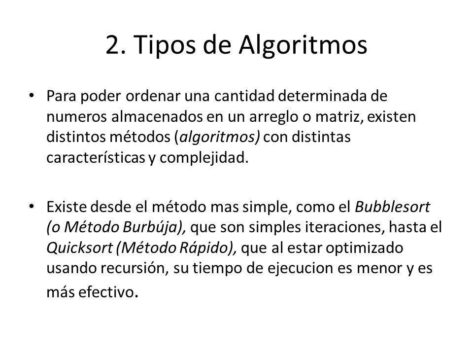 2. Tipos de Algoritmos