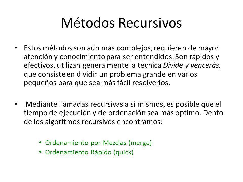 Métodos Recursivos