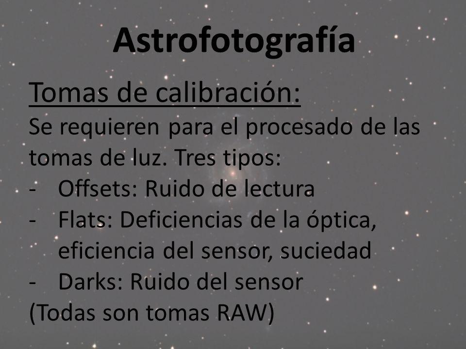 Astrofotografía Tomas de calibración: