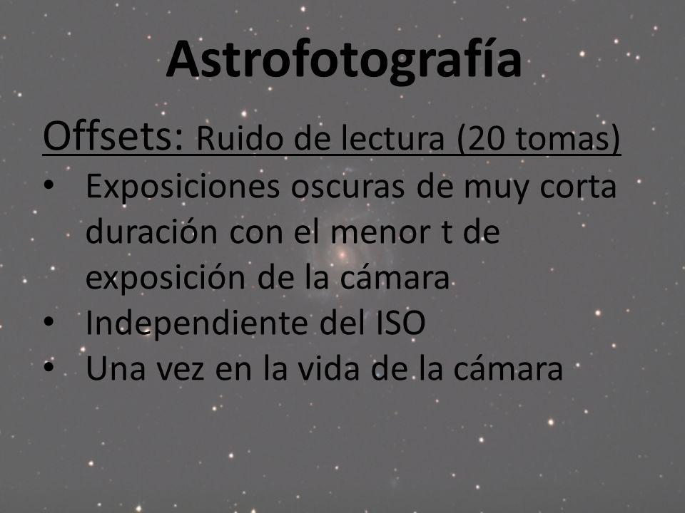 Astrofotografía Offsets: Ruido de lectura (20 tomas)