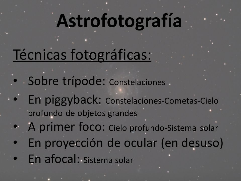 Astrofotografía Técnicas fotográficas: Sobre trípode: Constelaciones