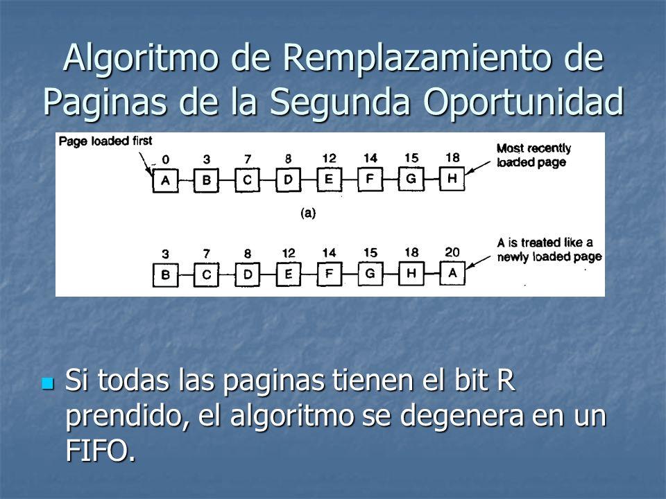 Algoritmo de Remplazamiento de Paginas de la Segunda Oportunidad