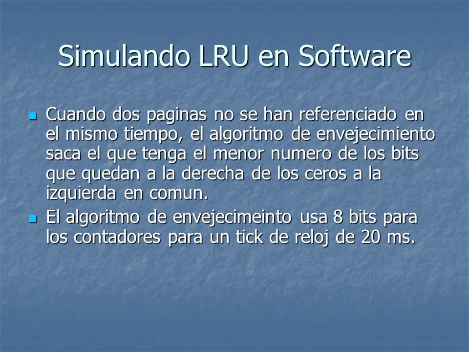 Simulando LRU en Software