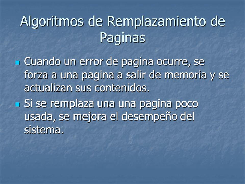 Algoritmos de Remplazamiento de Paginas