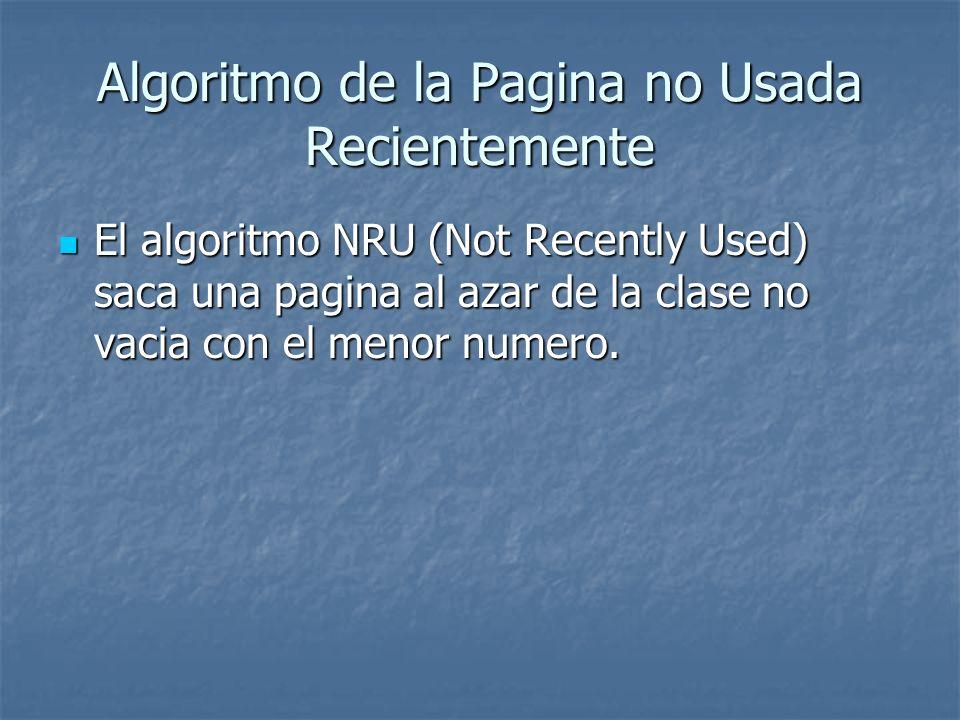 Algoritmo de la Pagina no Usada Recientemente