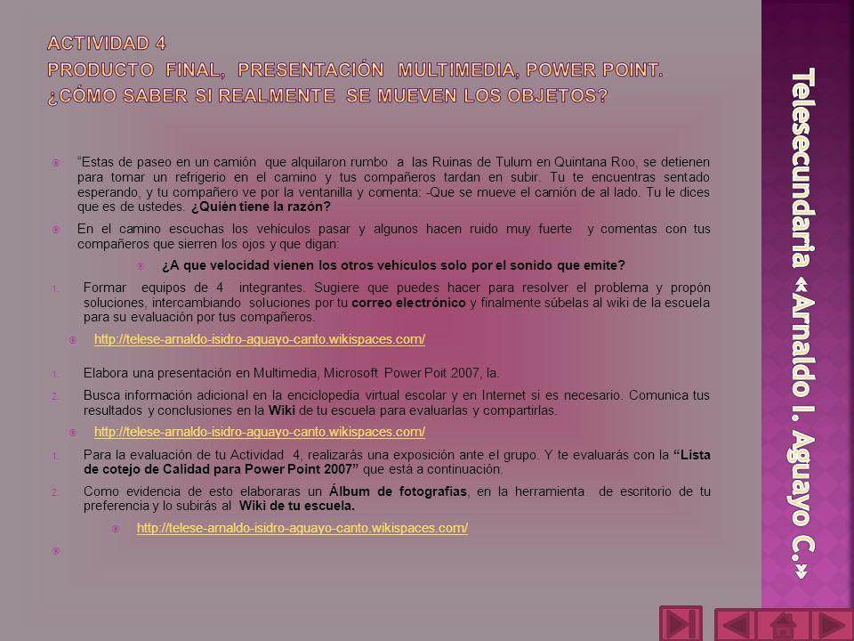 ACTIVIDAD 4 PRODUCTO FINAL, PRESENTACIÓN MULTIMEDIA, POWER POINT