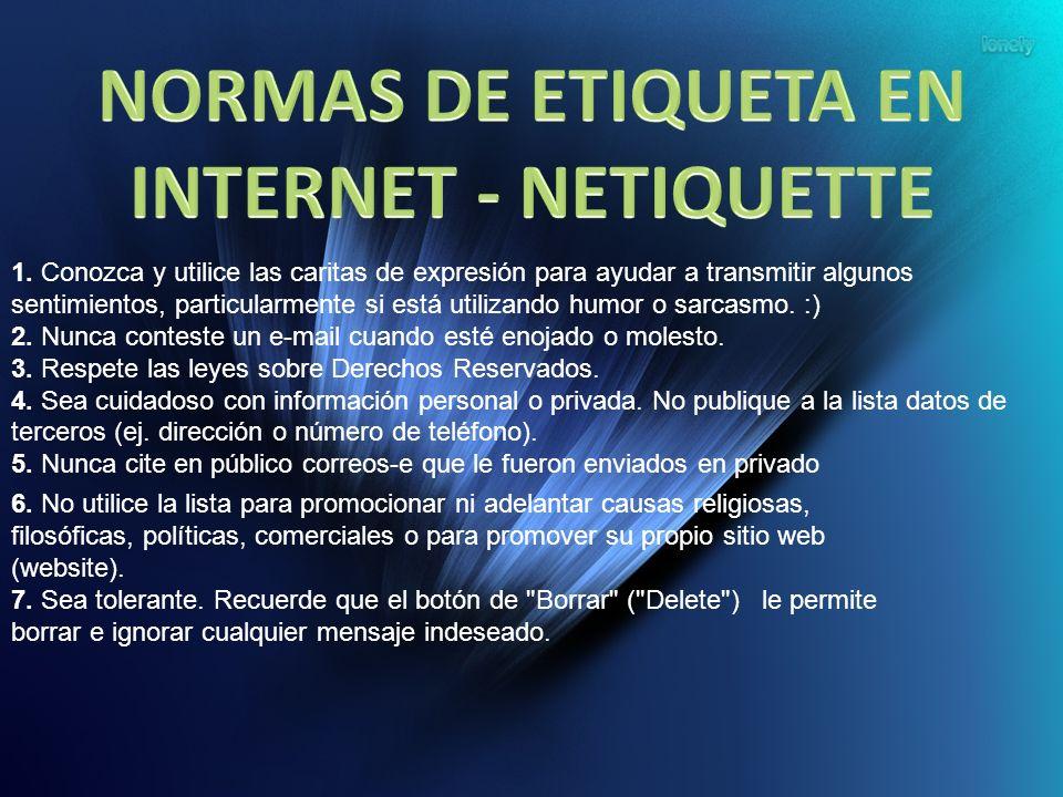 NORMAS DE ETIQUETA EN INTERNET - NETIQUETTE
