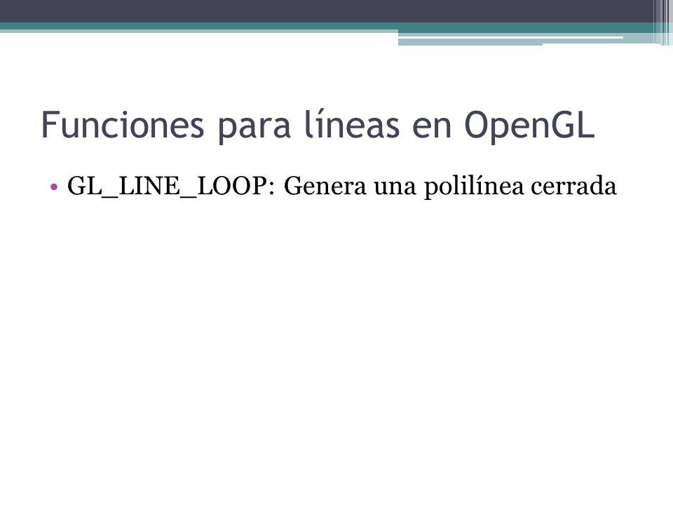 Funciones para líneas en OpenGL