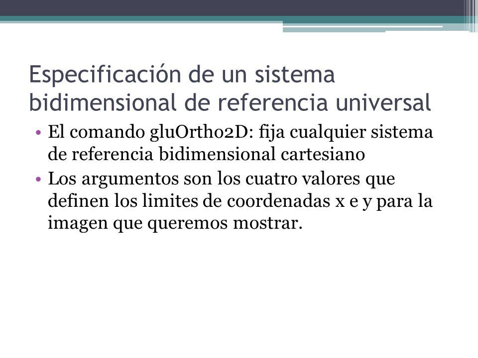 Especificación de un sistema bidimensional de referencia universal