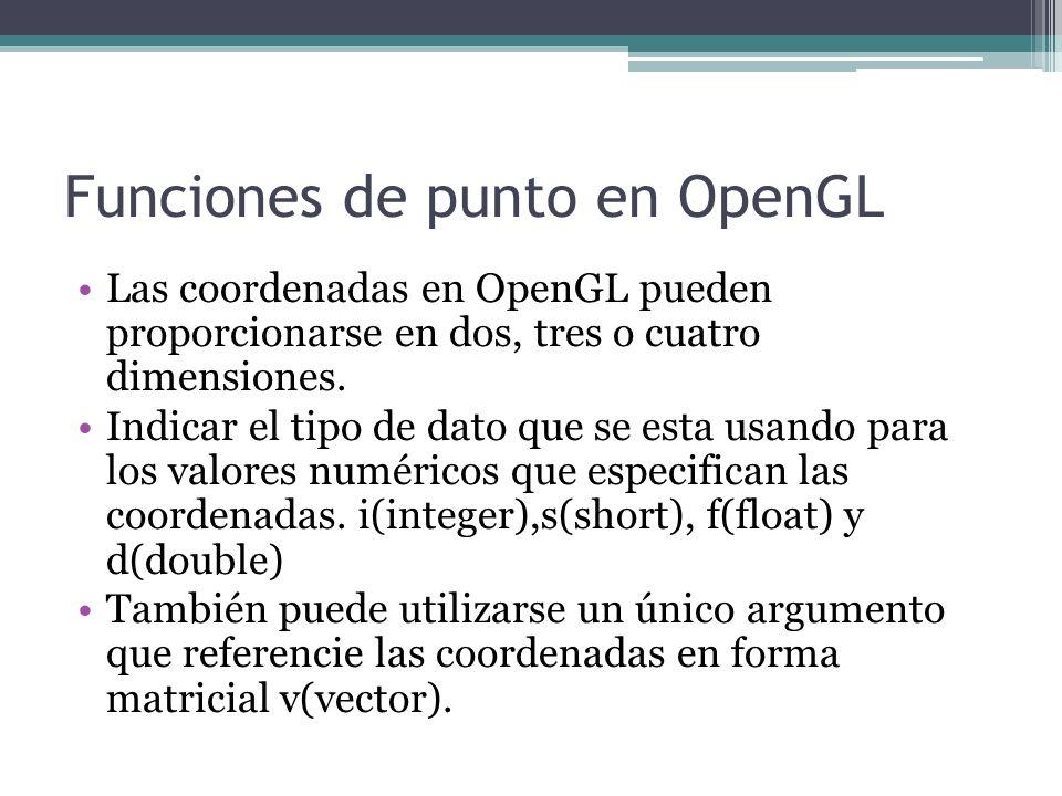 Funciones de punto en OpenGL