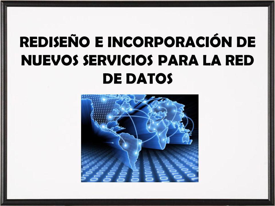 REDISEÑO E INCORPORACIÓN DE NUEVOS SERVICIOS PARA LA RED DE DATOS