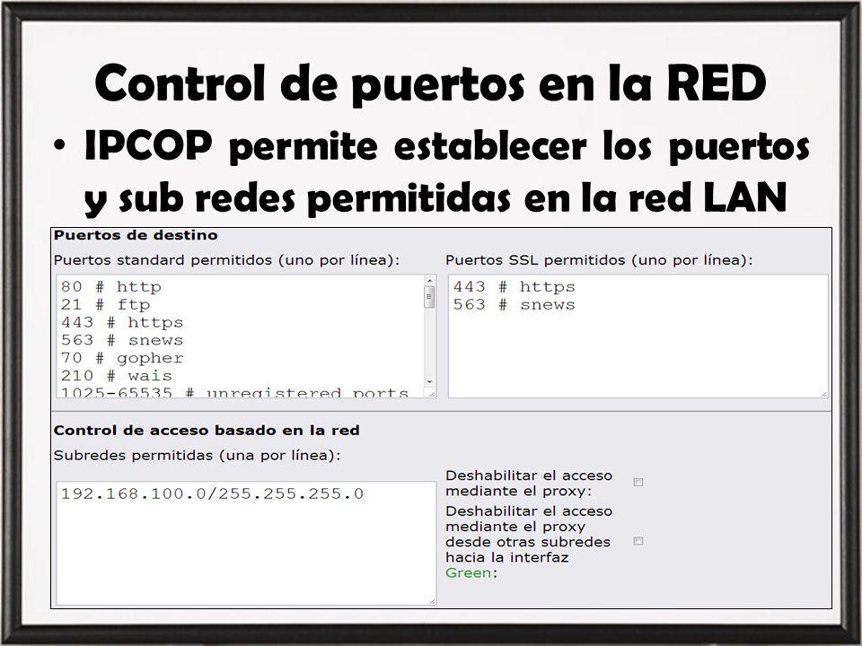 Control de puertos en la RED