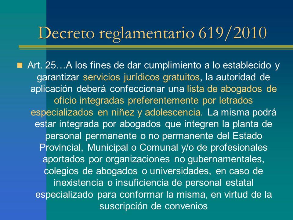 Decreto reglamentario 619/2010