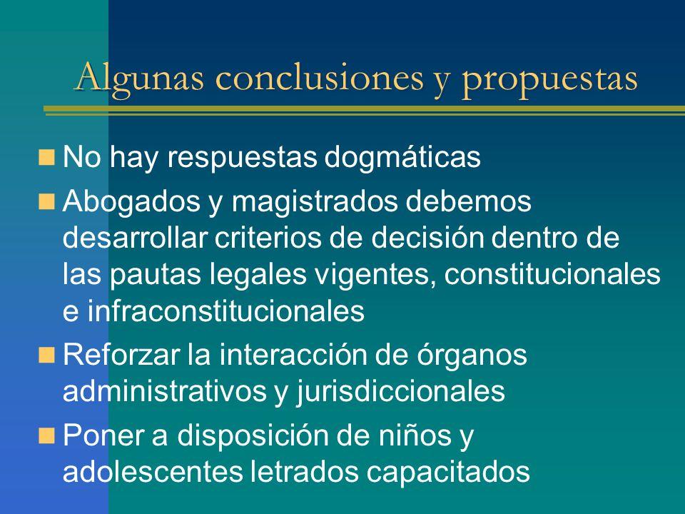 Algunas conclusiones y propuestas