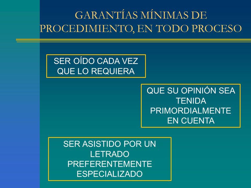GARANTÍAS MÍNIMAS DE PROCEDIMIENTO, EN TODO PROCESO