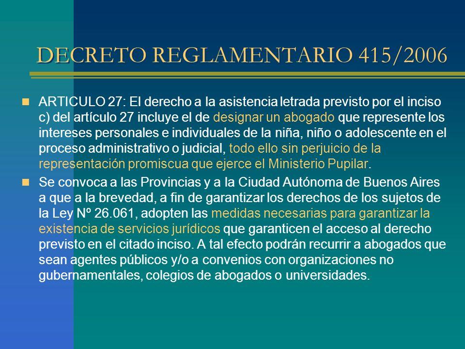 DECRETO REGLAMENTARIO 415/2006