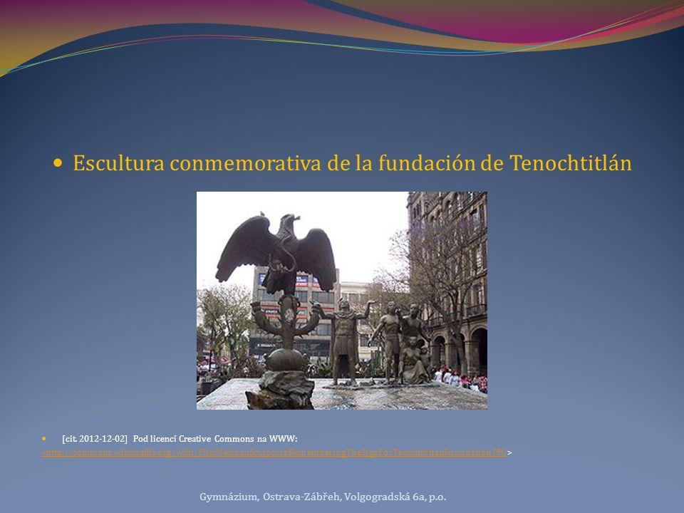Escultura conmemorativa de la fundación de Tenochtitlán