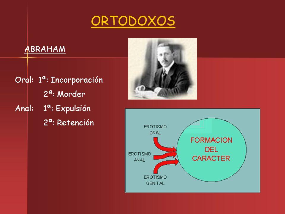 ORTODOXOS ABRAHAM Oral: 1ª: Incorporación 2ª: Morder