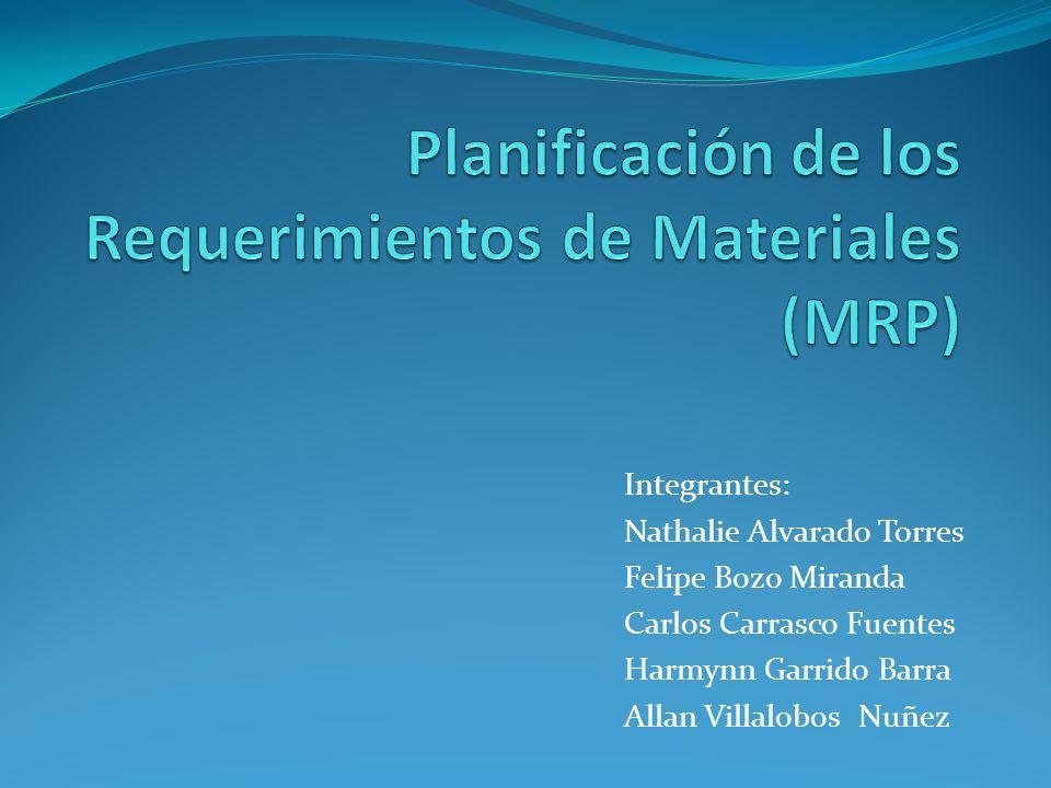Planificación de los Requerimientos de Materiales (MRP)
