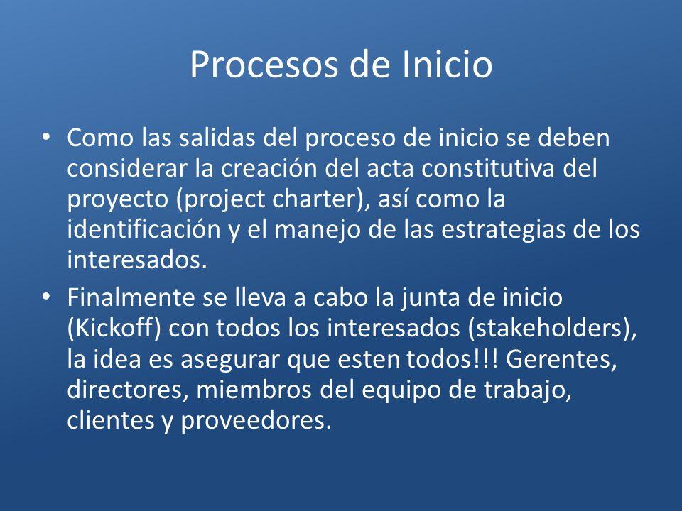 Procesos de Inicio