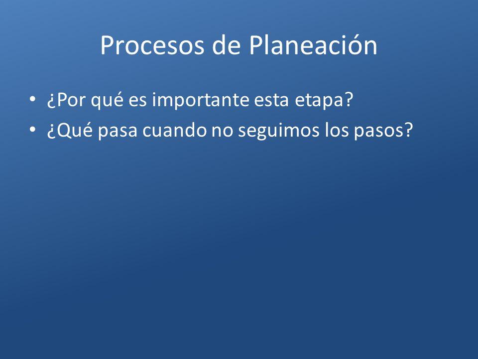 Procesos de Planeación