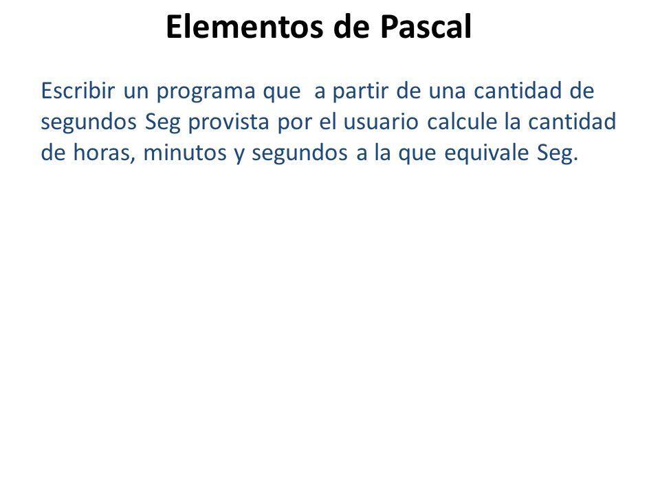 Elementos de Pascal