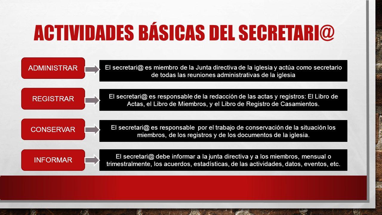 Actividades básicas del secretari@