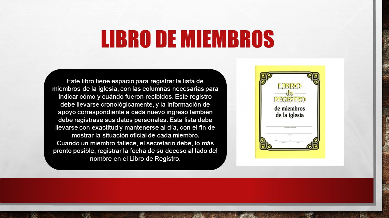 LIBRO DE MIEMBROS