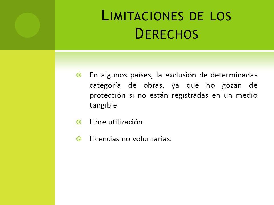 Limitaciones de los Derechos