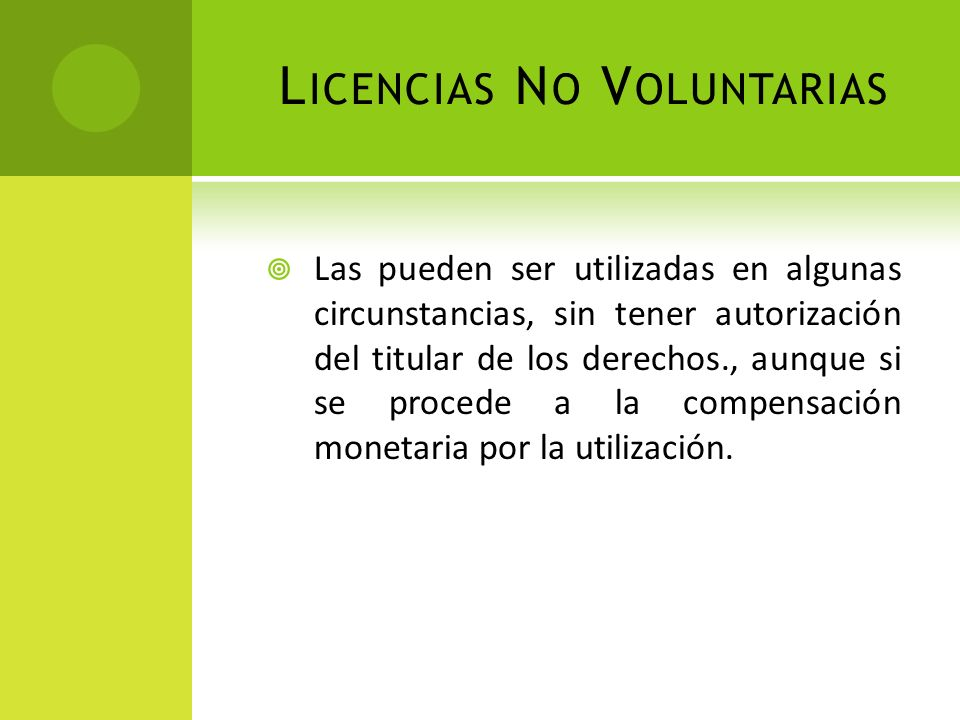 Licencias No Voluntarias