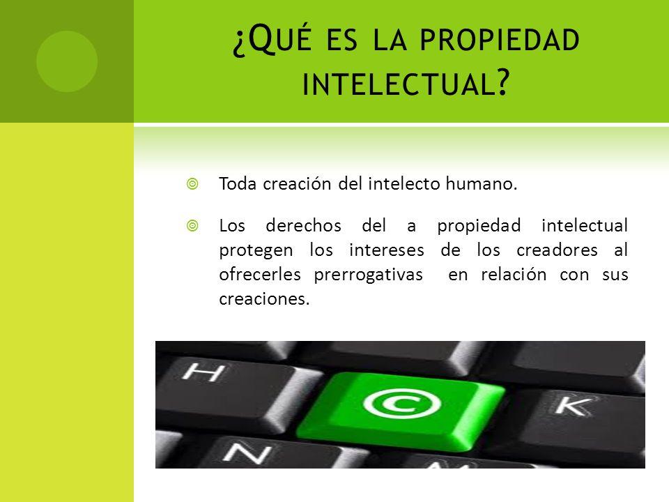 ¿Qué es la propiedad intelectual