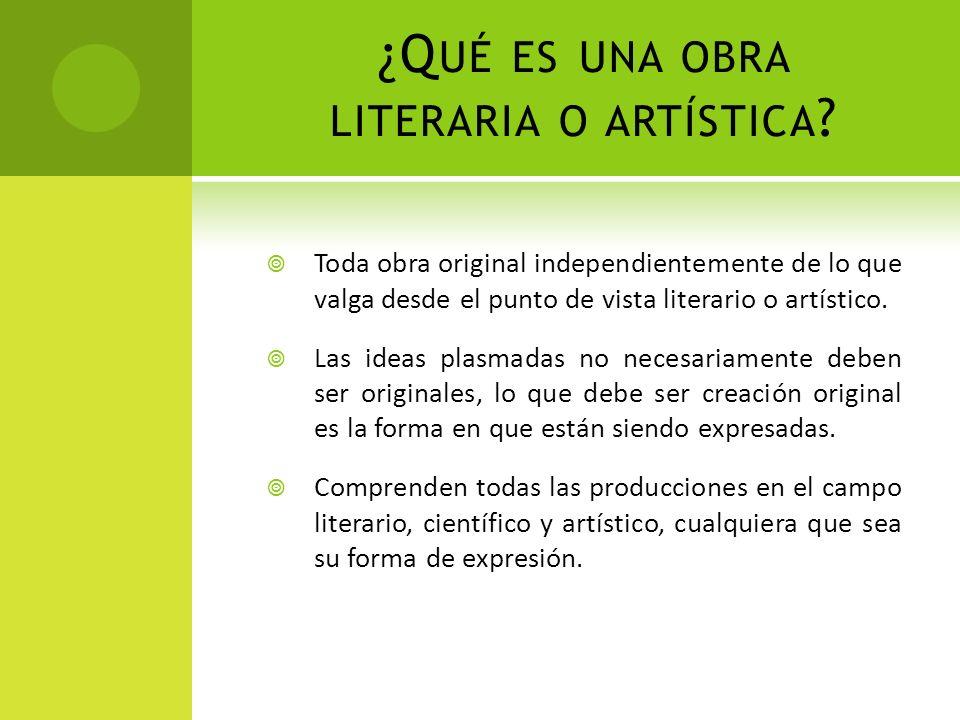 ¿Qué es una obra literaria o artística