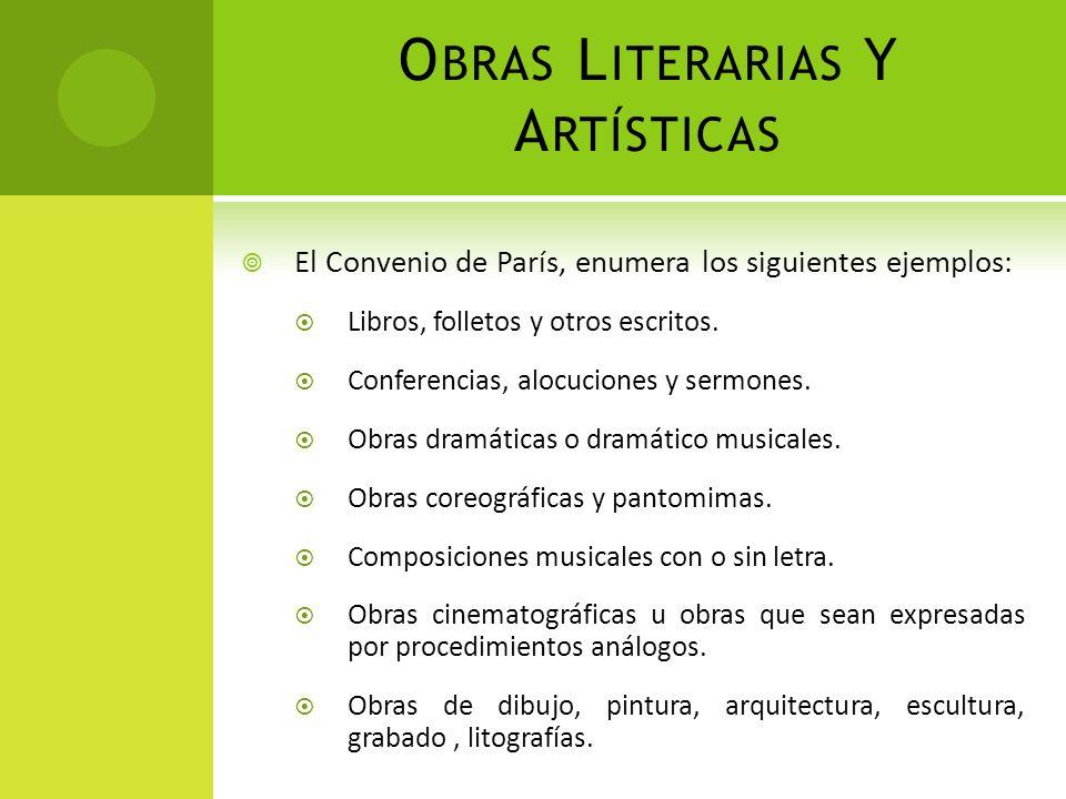 Obras Literarias Y Artísticas