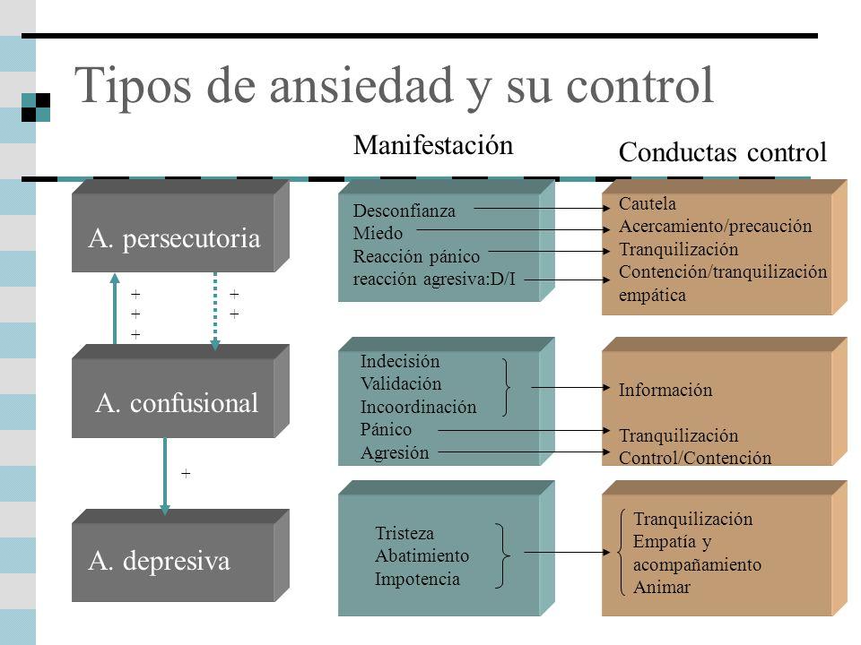Tipos de ansiedad y su control