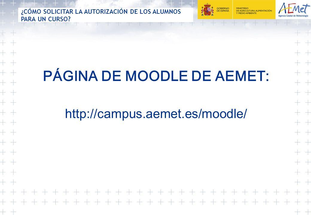 PÁGINA DE MOODLE DE AEMET: